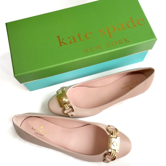 Kate Spade Phoebe Flats In Pale Pink